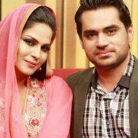 Veena Malik with Asad Khattak