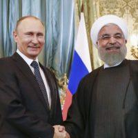 Vladimir Putin and Hassan Rouhani