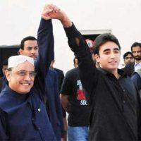 Asif Ali Zardari and Bilawal Bhutto