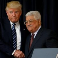 Donald Trump and Mahmoud Abbas