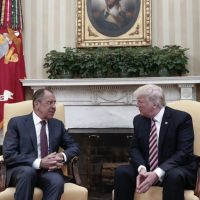 Sergei Lavrov and Donald Trump