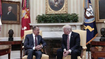 Sergei Lavrov and Donald Trump