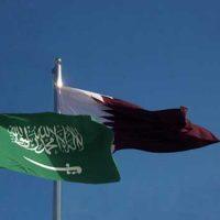 Saudi Qatar Flags