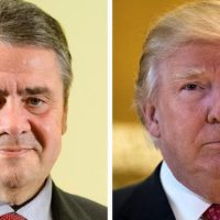 Sigmar Gabriel and Donald Trump