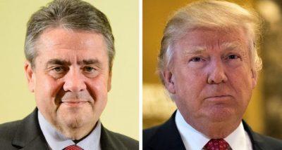 Sigmar Gabriel and Donald Trump