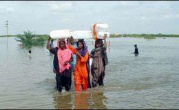 کور کمانڈر کراچی کا سیلاب متاثرہ علاقوں کا دورہ