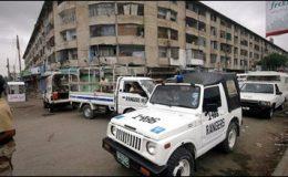 کراچی : الاصف اسکوائر میں رینجرز کا سرچ آپریشن