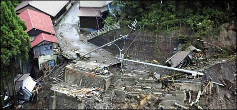 ٹوکیو: سمندری طوفان کے باعث 41 ہلاک، 50 لاپتہ