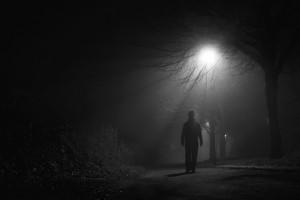 man in moonlight