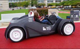 شکاگو میں دنیا کی پہلی تھری ڈی  پرنٹڈ گاڑی کا کامیاب تجربہ