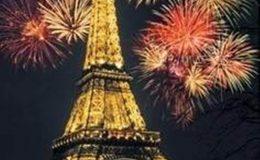 فرانس میں نیو ائیر کا شاندار استقبال کیا گیا
