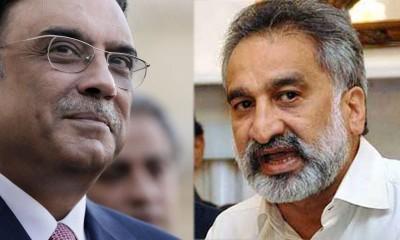 Asif Zardari and Zulfiqar Mirza