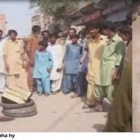 Badin Wapda Against Protest