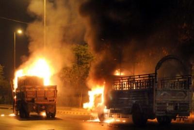 Burning Trucks