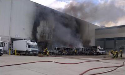 Industrial Estate Warehouse Fire