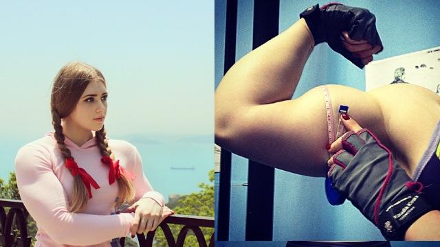 Julia Vins , Russian muscled barbie