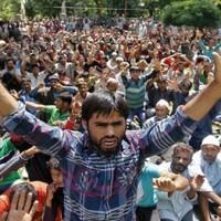 Kashmir Employees Demonstrate