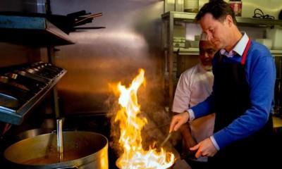 Nick Clegg Cooking