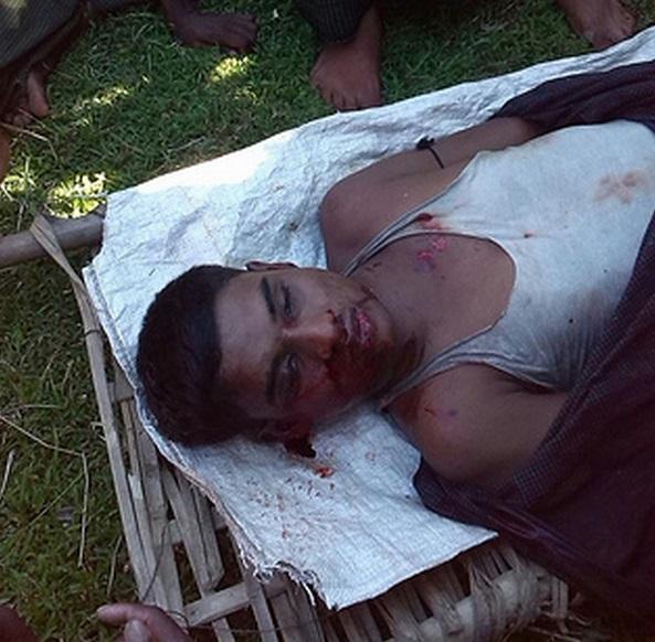 Muslims shot by Burmese police