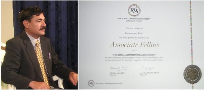 Rehmat Aziz Chitrali get Honour Award