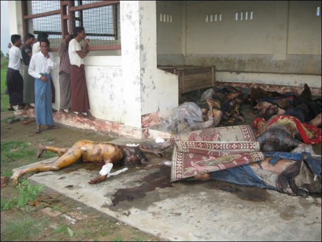 Rohingya dead bodies in Arakan