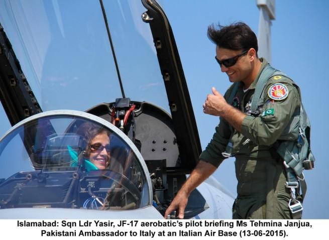 Sqn Ldr Yasir, JF 17 Aerobatic  Pilot Briefing Ms Tehmina Janjua,