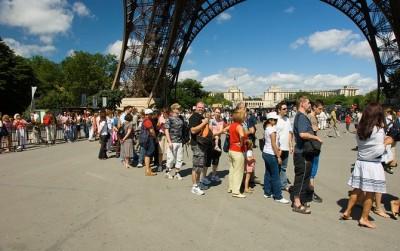France People in Eiffel Tower