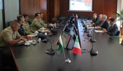 Italy Raheel Sharif Meeting