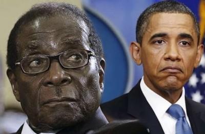 Robert Mugabe and Obama