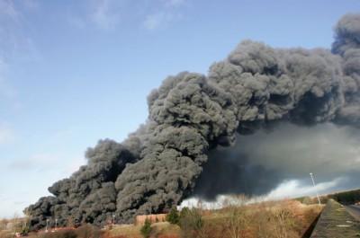 Tires Factory Smoke