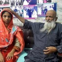 Abdul Sattar Edhi with Geeta