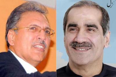 Arif Alvi And Khawaja Saad Rafiq