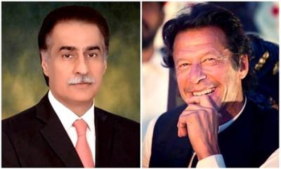Ayaz Sadiq and Imran Khan
