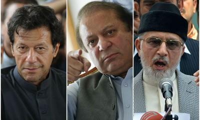 Nawaz, Imran and Tahir ul Qadri