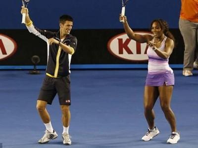 Serena and Novak Djokovic
