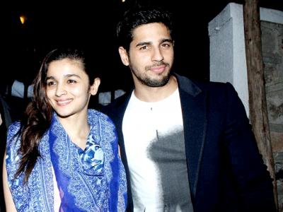 Alia Bhatt with Siddharth Malhotra