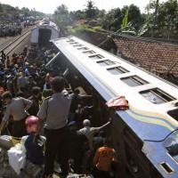 Indonesia Trains Collision