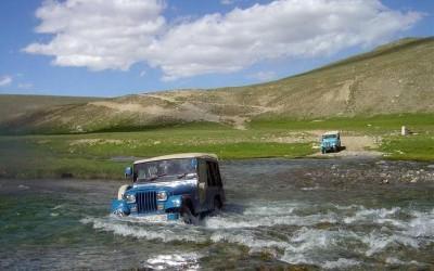 Van in Water