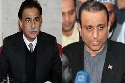 Ayaz Sadiq and Aleem Khan