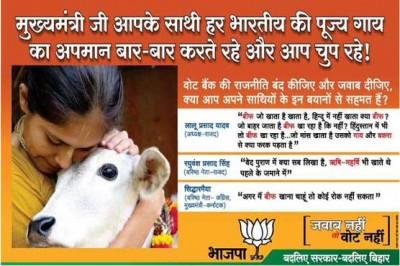 BJP Sectarian Advertisement