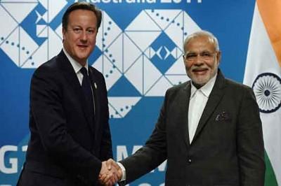 David Cameron and Narendra Modi