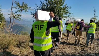 Earthquake Victims with Falah e Insaniat Foundation