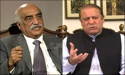 Khurshid Shah And Nawaz Sharif