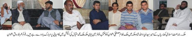 Malik Mohammad Iqbal Congratulations