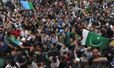 Pakistani Flags Waved Kashmiri