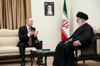 Vladimir Putin and Ali Khamenei