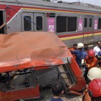 Indonesia Bus Train Accident