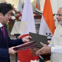 Narendra Modi and Japanese Prime Minister