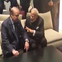 Narendra Modi and Nawaz Sharif Meeting