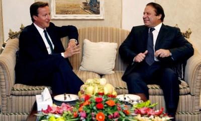 Nawaz Sharif and David Cameron